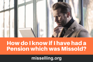 how do i know if pension mis-sold
