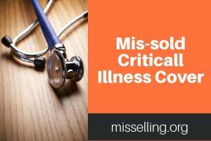 mis-sold critical illness cover